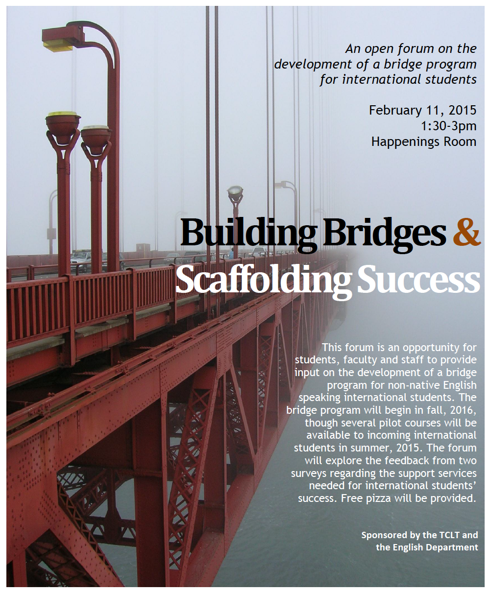 Open Forum for Bridge Program – Feb  11th   UM-Flint College
