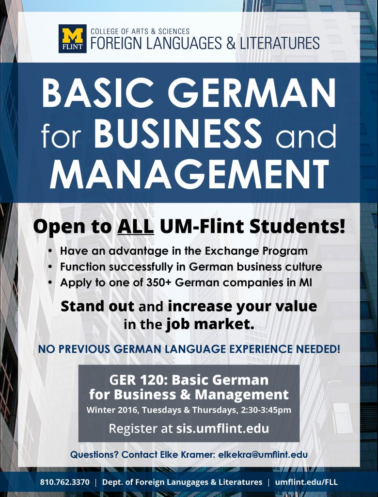 new german course focuses on business management um