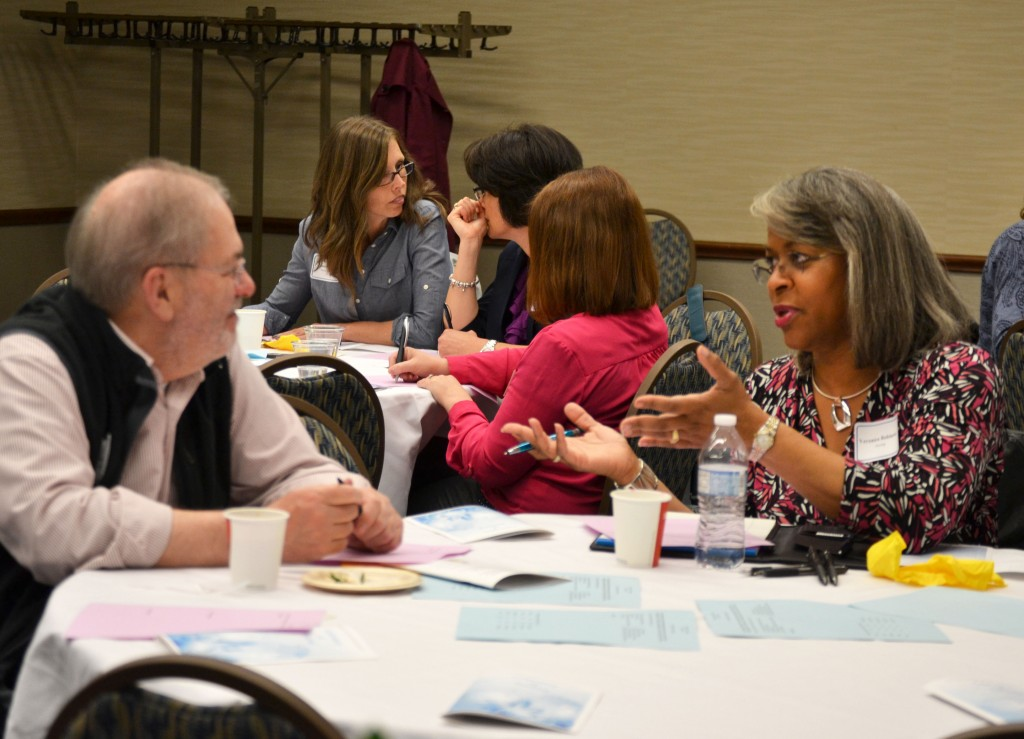Faculty members share ideas on Teaching Moments at the 2016 Celebration of Teaching