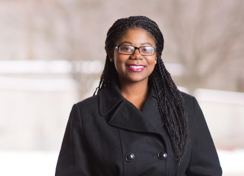 Stephanie Hare, UM-Flint Communication graduate and winner of the 215-2016 Dottie Filak Outstanding Leadership Award.