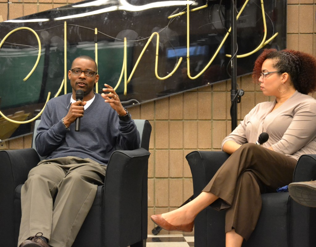 Henderson Allen (left) and Dawn Demps (right) talk about their time at UM-Flint and their careers.