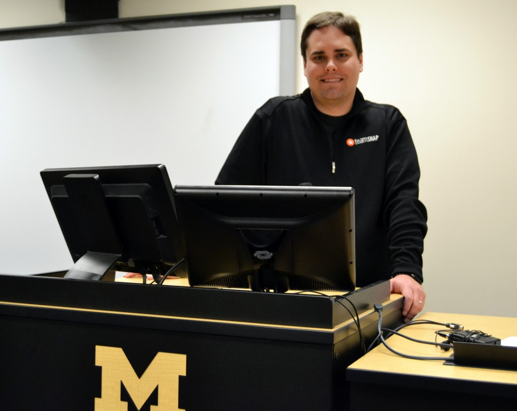Shane Emmons, alumnus and faculty member of UM-Flint's Computer Science program
