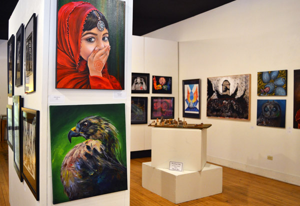 Pieces at UM-Flint's 2016 Annual Student Art Exhibition