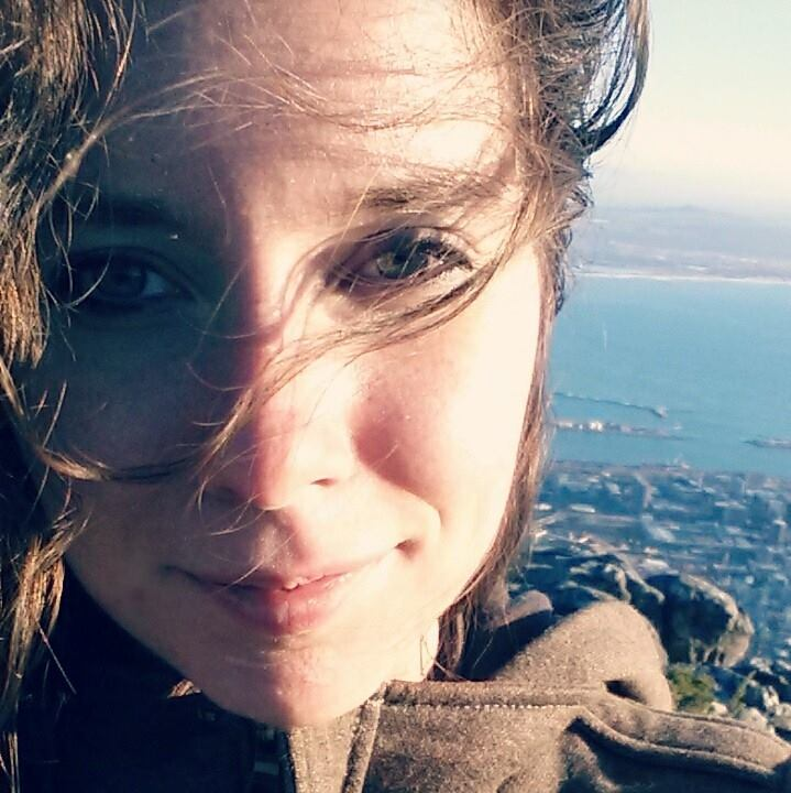 Christen Rachow on Table Mountain in Cape Town, South Africa