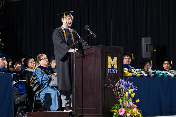 Brandon Taylor serving as UM-Flint commencement speaker in April 2017