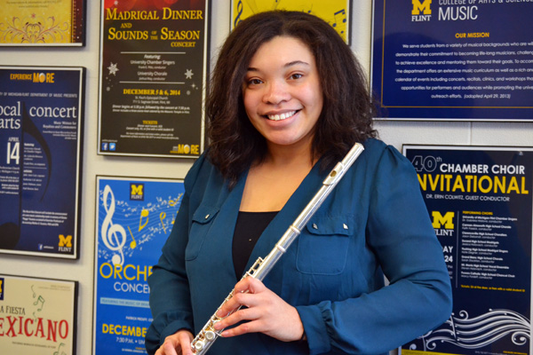 Kimberly Stewart of UM-Flint Music will be the featured soloist at the winter Wind Symphony concert