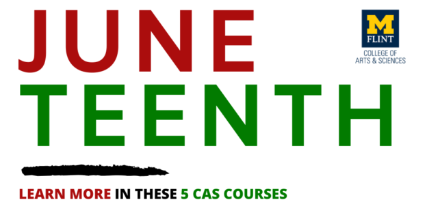 Juneteenth header in the colors of the pan african flag