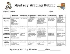 mystery rubric