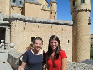 Elizabeth LeBlanc and Elizabeth Houbeck, Salamanca Castle