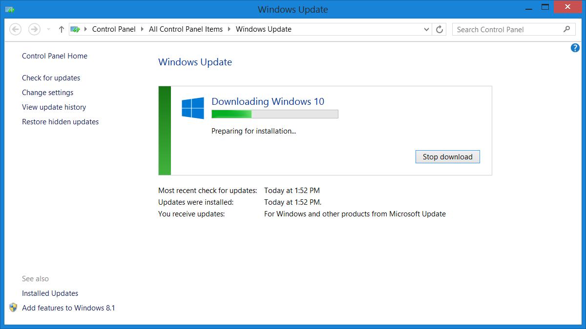 Как сделать чтобы windows 8.1 не обновлялся до windows 10