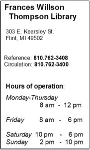 Hours of Operation & Contact Numbers WINTER