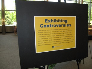 Current Student Projects on Display in Thompson Library