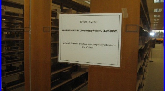 Library Prepares for Writing Center Construction