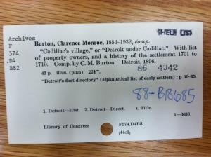 Card Catalog Card