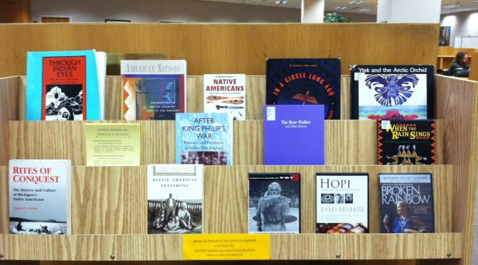 Thompson Library Celebrates Native American Month