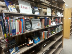 The English Language Program collection on the shelf. ©Elizabeth Svoboda
