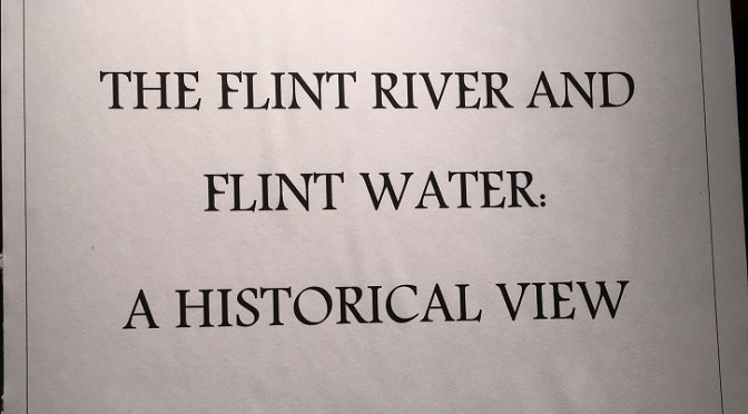 Flint River Display at Archives in Library