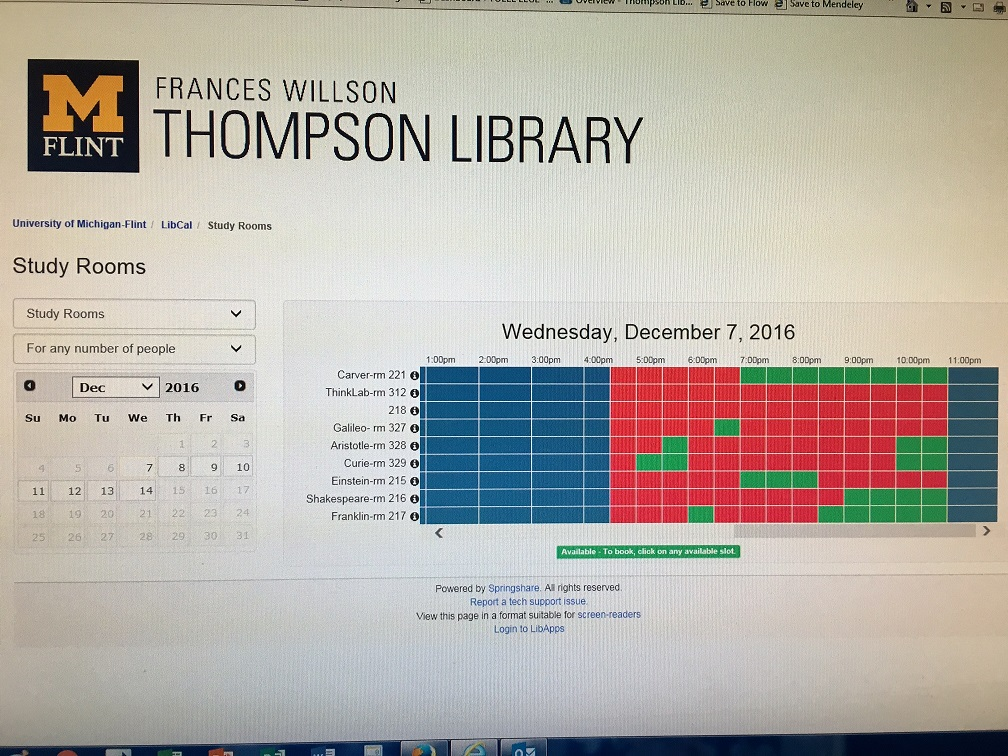 Thompson Library Study Room Reservations
