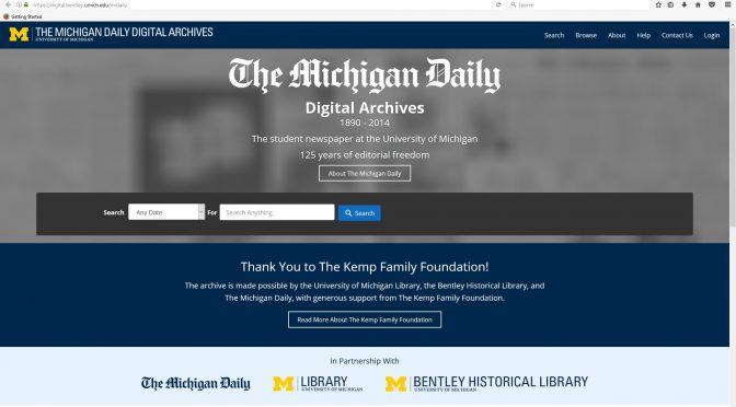 MICHIGAN DAILY ARCHIVE Highlights University, State, National, and World History