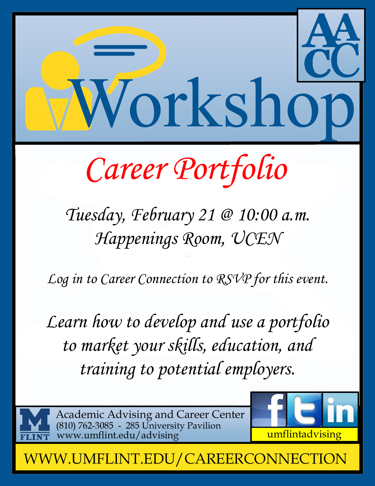 career portfolio workshop student success center
