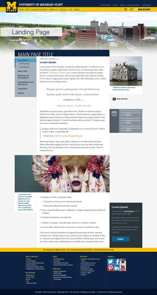 UM-Flint Content Page Draft