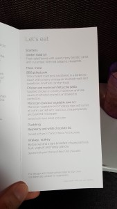 Meals on the plane