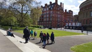 Students at Albert Memorial
