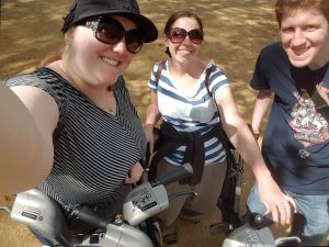 From Left to Right: Myself, Melissa, and Tyler with our bikes